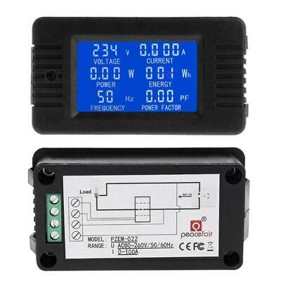 AC 100A 6in1 Digital Power Energy Monitor Current KWh Watt Meter with Split CT