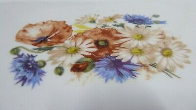 Antique Victorian Porcelain China Hand Painted Flowers Floral Posy Plate