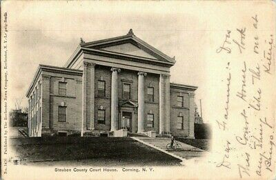 1905. STEUBEN COUNTY COURT HOUSE. CORNING, NY POSTCARD q4