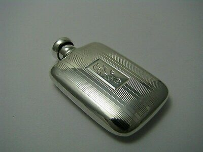 ART DECO STERLING SILVER PERFUME BOTTLE SCENT FLASK The Thomae Co.1940s Mono RKE