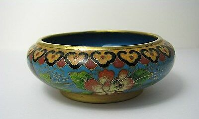MULTI-COLOR CHAMPLEVE ENAMELED BOWL CLOISONNE ENAMEL China ca1900s Excel Cond