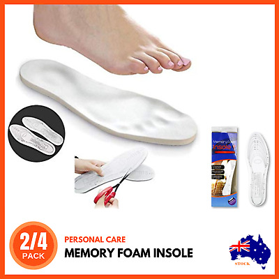 UNISEX REMEDY MEMORY FOAM INSOLES Orthopaedic Inner Soles Shoes Feet Foot Pads