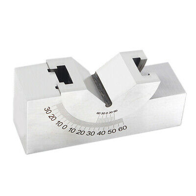 Precision Adjustable Gauge Angle V Block for Milling Grinding 102x30x49mm
