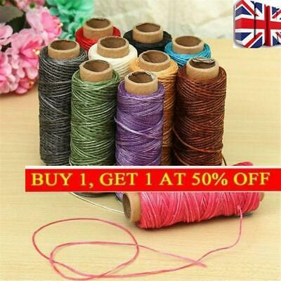 Handicraft 30m/roll Waxed Thread Cotton Cord String Strap Hand Stitching Leather