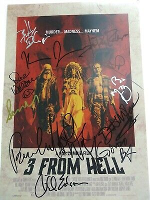 3 From Hell Autographed 12x18 Poster Cast Piece Signed by 12 Cast Members.
