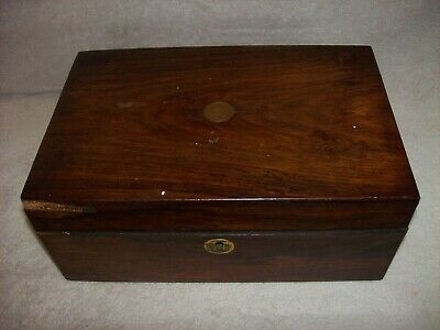 Antique Wooden Box Writing or Jewellery