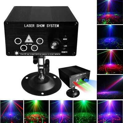 120 Pattern RGB Laser Lamp DJ Projector Disco LED Stage Effect Party Decor Light