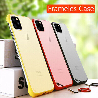 For iPhone 11 Pro Max Ultra Thin Frameless Case Transparent Matte Cover CA IL