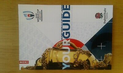 RUGBY WORLD CUP JAPAN 2019 OFFICIAL SUPPORTERS TOUR GUIDE FREE P&P +free gift.
