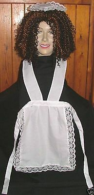 FRENCH MAID APRON & HEADPIECE FOR rocky horror MAGENTA wig not included