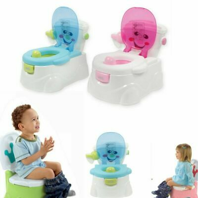 2 in 1 Baby Toddler Toilet Trainer Safety Green/Pink Potty Training Seat