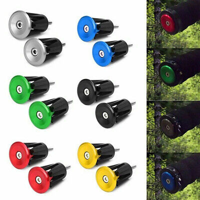 1 Pair MTB Road Bike Bicycle Aluminum Alloy Handlebar Grips Bar End Cap Plug