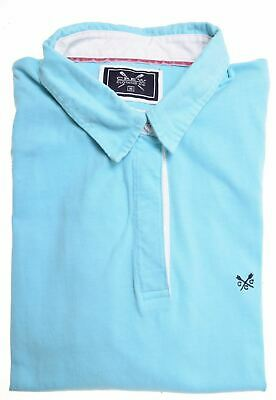 CREW CLOTHING Girls Rugby Polo Shirt Long Sleeve 15-16 Years Blue Cotton  BM22