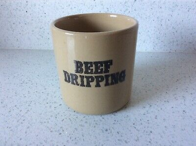 Vintage Pearsons Of Chesterfield Beef Dripping Stoneware Pot / Jar. Unused. Mint