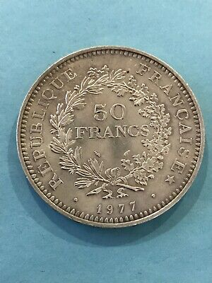 France - 50 Francs Hercule Argent 1977 SUP