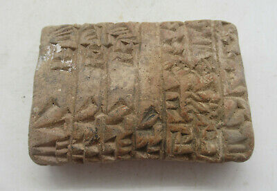 Rare Circa 3000Bce Ancient Near Eastern Clay Tablet With Early Form Of Writing