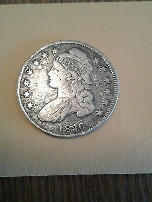 1836 Capped Bust Half Dollar Lettered Edge