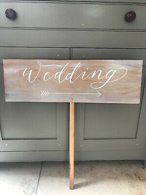 3 x Rustic Wedding and Church Signs  Painted on Board