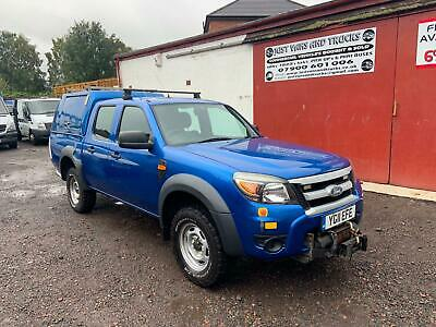 2011 (11) FORD RANGER 2.5 TDCi XL 4x4 CREW CAB PICK UP UTILITY CANOPY + WINCH
