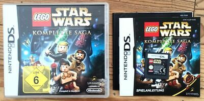 Lego Star Wars The Komplett Saga Complet B+N Nintendo Ds Pal Deutsch Cib Ovp