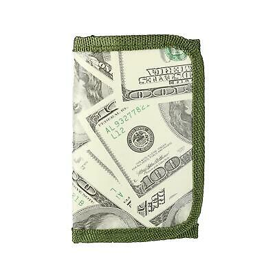 New Rhode Island Novelty Kid's One Hundred Dollar Bill Print Trifold Wallet