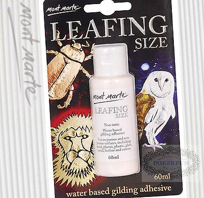 free ship Mont Marte MAXX0024 leafing size water based gilding adhesive 60ml