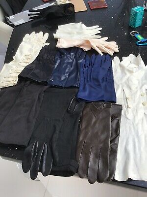 Job Lot Of 11 Pairs Of Vintage Ladies Gloves Short And Long. Stage Dance