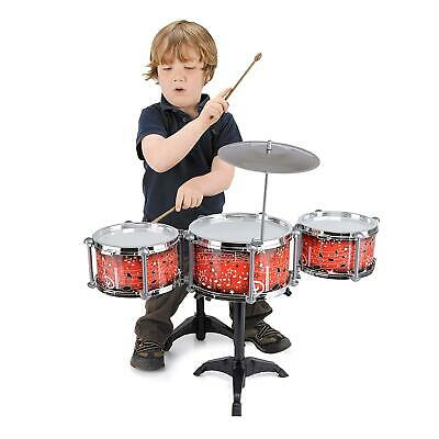 Toyrific My First Drum Kit Set with Stand Symbol Seat Kids Childrens Music Small