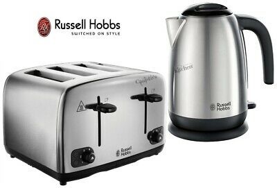 Russell Hobbs Adventure Kettle and Toaster Stainless Steel Kettle 4-Slot Toaster