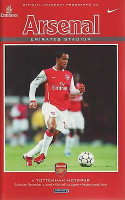 Football Programme - Premiership - Arsenal vs Tottenham Hotspur Spurs 2/12/2006