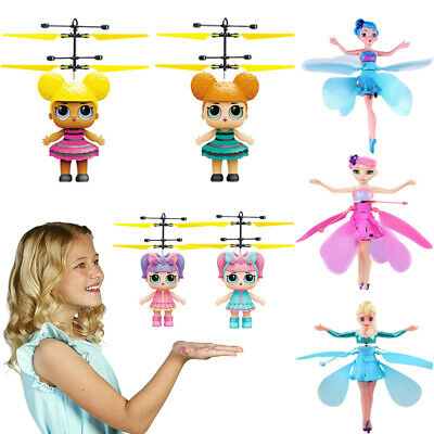 Cute Flying Toys Fairy Magic Infrared Induction Control Princess Dolls Toys AUT
