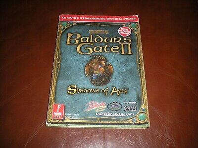 Guide Strategique Officiel Jeu Pc Baldur's Gate Ii Shadows Of Amn En Francais