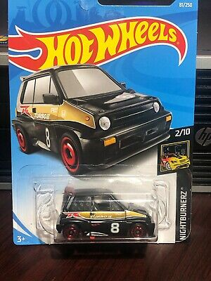 2019 HOT WHEELS '85 Honda City Turbo II BLACK Nightburnerz 2/10 Free Shipping
