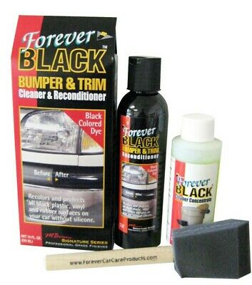 Forever Black Dye Kit Trim And Bumper Cleaner And Reconditioner