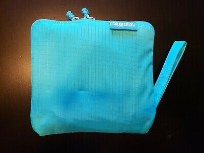 NWOT Baggallini zip up large Packable Tote shopper bag teal/turquoise