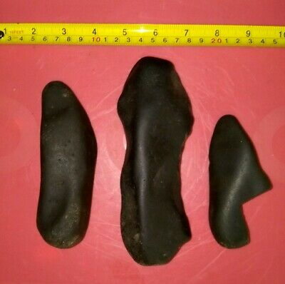 Paleolithic STONE TOOLS NATIVE AMERICAN INDIAN ARTIFACTS Collection 3pc lot