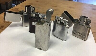 Lot Of 5 Vintage Lighters Zippo Ronson Untested As Found