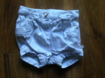 Ted Baker Girls White Shorts Aged 3-6 months