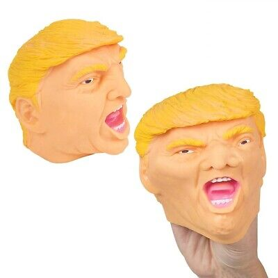New! Donald Trump Face Hand Puppet Novelty Toy Gag Gift Stocking Stuffer Rubber