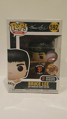 2019 FUNKO POP MLB SF GIANTS BRUCE LEE #592 BAIT w/ .5 mm Protector