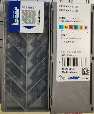 Iscar HFPR 6004 IC428 Carbide Inserts The listing is for 1 box