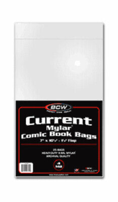 (8) Bcw Comic Book Current Modern Age 4 Mil Mylar Storage Bags