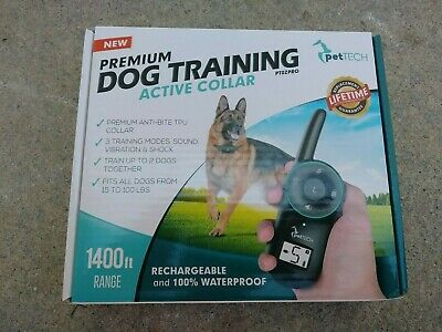 Pet Tech Dog Training Active Collar (PTOZPRO) 1400ft Range For Dogs 15-100lbs