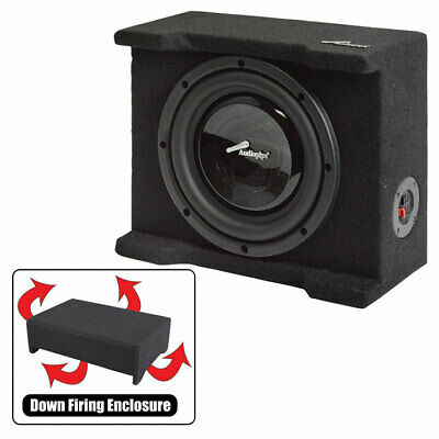 "Audiopipe Single 8"" Shallow Downfire Sealed Enclosure with sub"