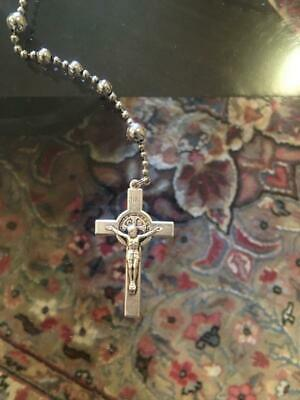 Rugged/Combat/Military Rosary WWI Pull Chain Replica Saint Benedict (CordBands)