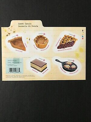 Canada Stamps MNH New 2019 Sweet Desserts Of Canada Souvenir Sheet Of 5
