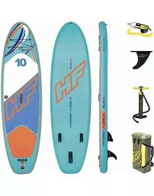 "Bestway Hydro-Force HuaKa'i Tech Inflatable Stand Up Paddle Board10'x33""x 6""USED"