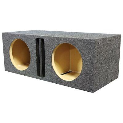 """Qpower Dual 15"""" Ported Heavy Duty Enclosure with Divider"""