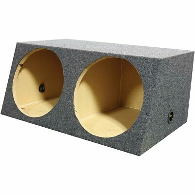 """Empty Woofer Box (2)15"""" Qpower Angled Style"""