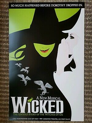 """WICKED - The Musical *OFFICIAL BROADWAY POSTER* 22 x 14"""""""